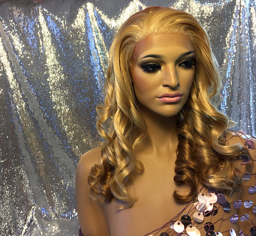 Human Hair Blend Lace Frontal Wig