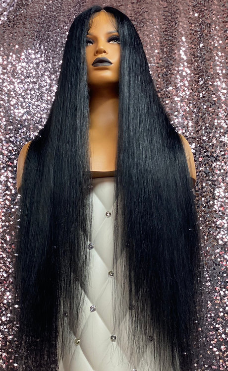 "30"" 100% Natural Virgin Human Hair Full Lace Wig"