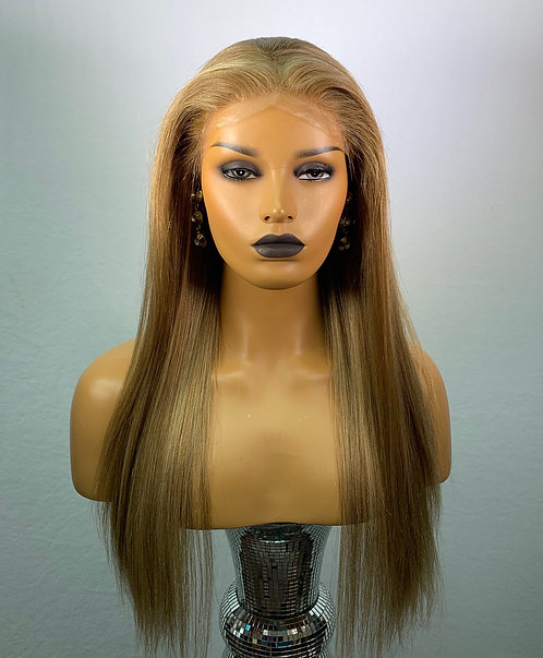 "19"" 100% Luxury European Human Hair Lace Frontal Wig"