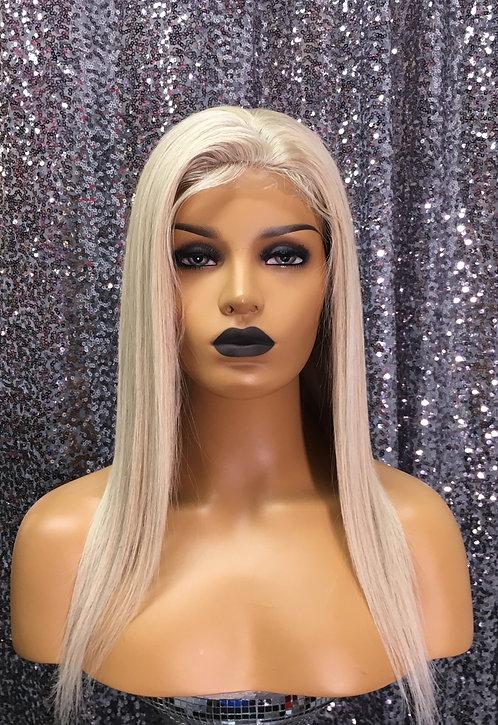 """16"""" 100% Human Hair Silky European Full Lace Wig"""