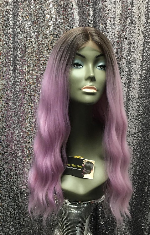"17"" Human Hair Blend Lace Frontal Wig"