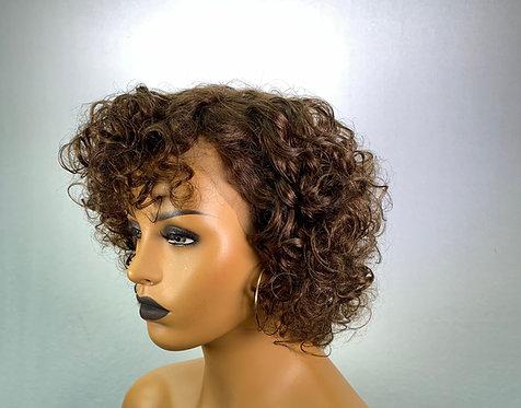 "13"" 100% Brazilian Human Hair Lace Frontal Wig"