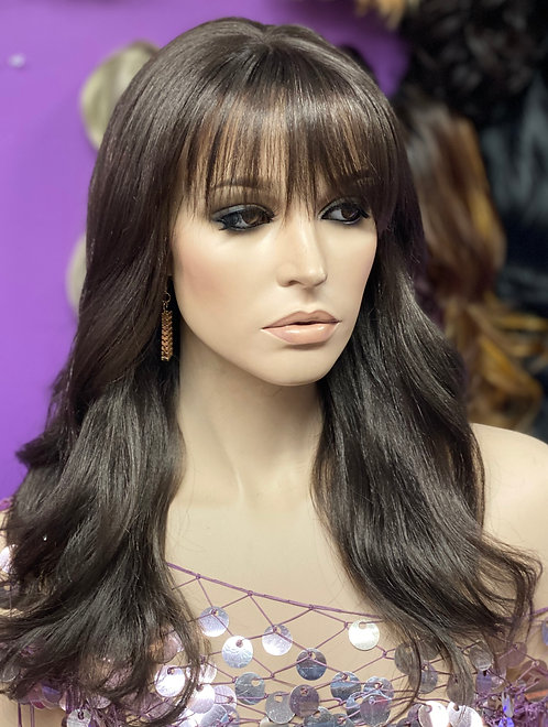 "14"" Human Hair Blend Monofilament Top Wig"