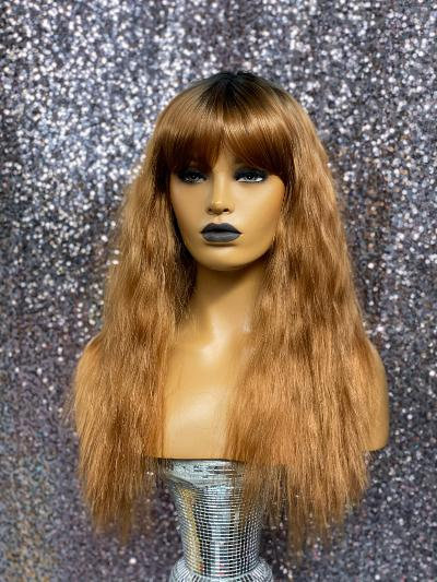 """15"""" Human Hair Classic Cap Full Wig"""