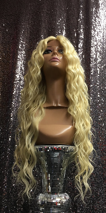 """20"""" Human Hair Blend Lace Frontal Wig"""
