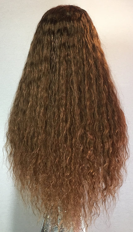 "22"" 100% Indian Remy Human Hair Glueless Full Lace Wig"