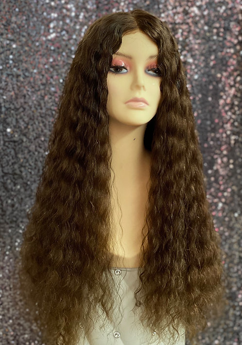 "24"" 100% Virgin Human Hair Full Lace Wig"