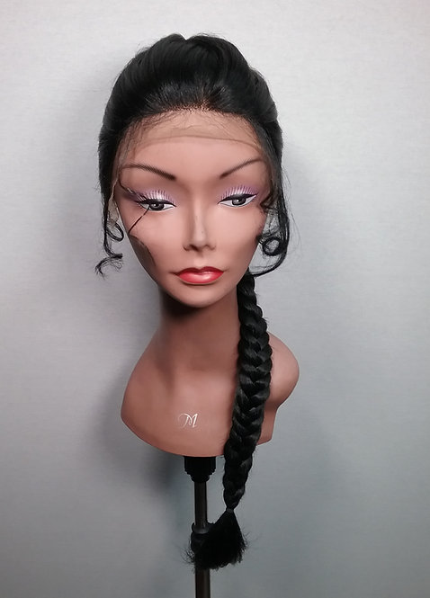 """20"""" Human Hair Blend Hand Tied Lace Frontal Wig"""