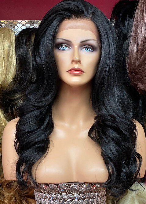 "18"" Human Hair Blend Lace Frontal Wig"