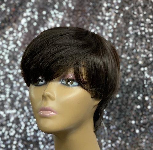 "5"" 100% Human Hair Classic Cap Wig"