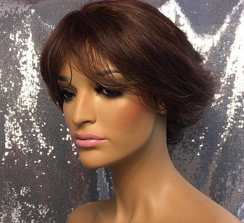 """6"""" 100% Human Hair Full Cap Wig"""