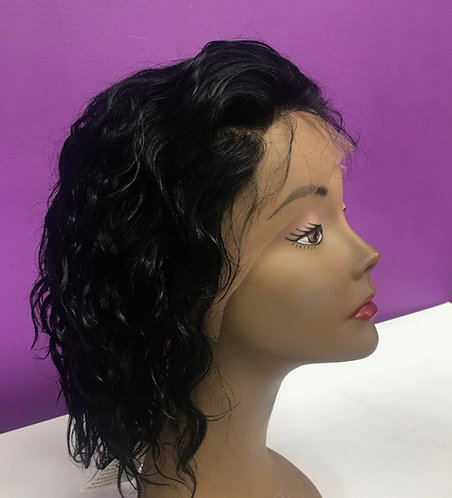 "8"" 100% Brazilian Remy Human Hair Lace Frontal Wig"