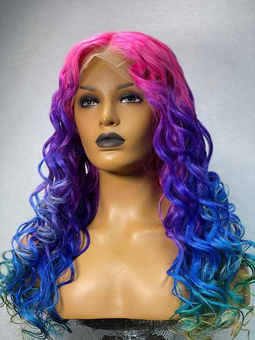 "22"" 100% Brazilian Human Hair Full Lace Wig"