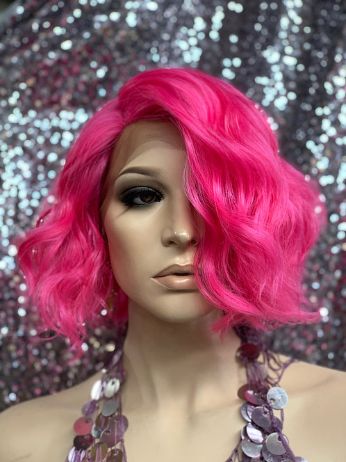 "10"" Human Hair Blend Lace Front Deep Lace Part Wig"