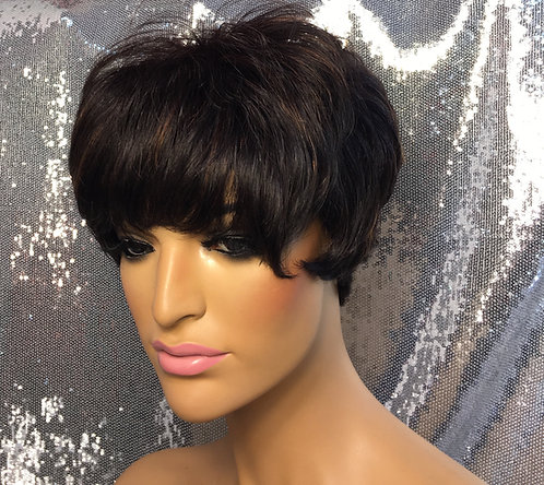 "3"" 100% Human Hair Full Cap Wig"