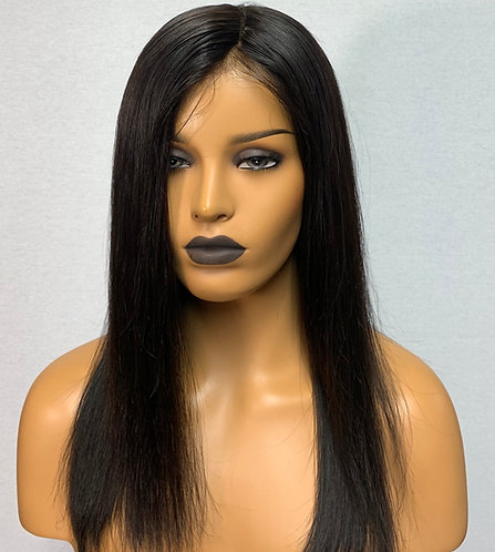 "12"" 100% European Human Hair 360 Lace Wig"