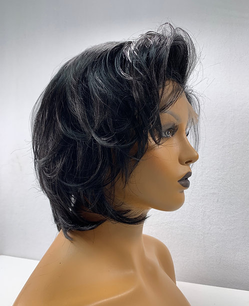"""10"""" 100% Indian Human Hair Full Lace Wig"""