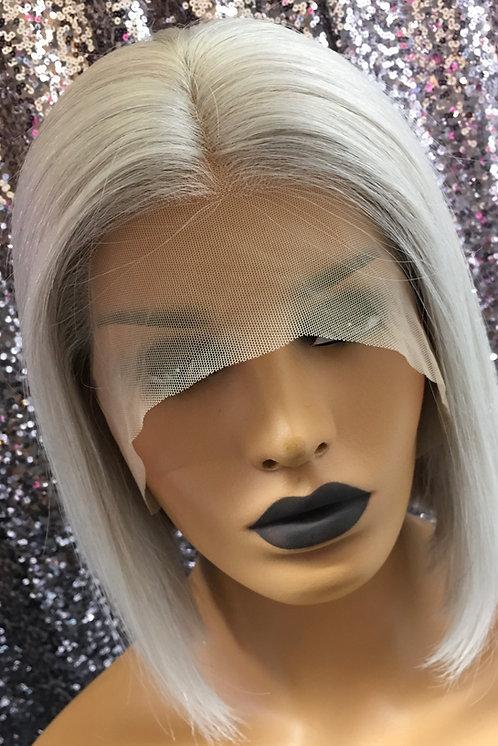 "10"" 100% Brazilian Human Hair Lace Frontal Wig"
