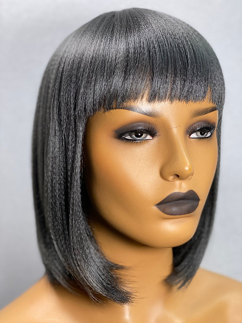 "10"" Human Hair Blend Thick Textured Full Cap Wig"