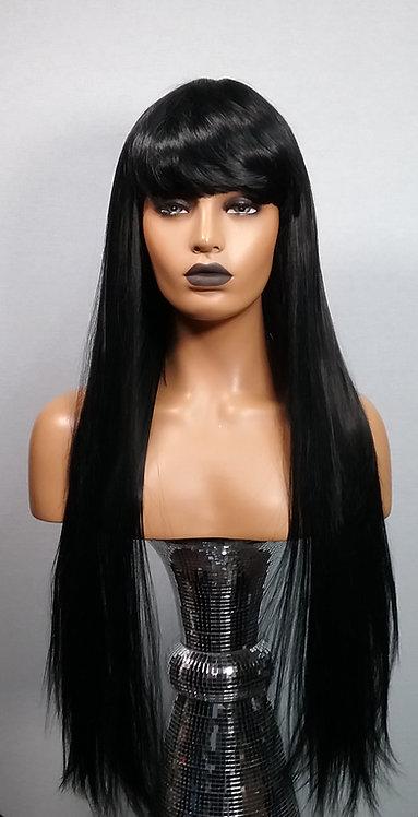 """25"""" Human Hair Blend Classic Cap Wig"""