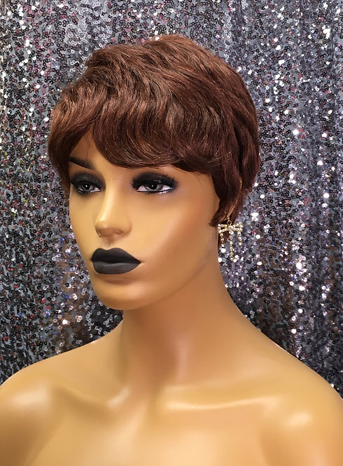 """4"""" 100% Human Hair European Full Cap Wig"""