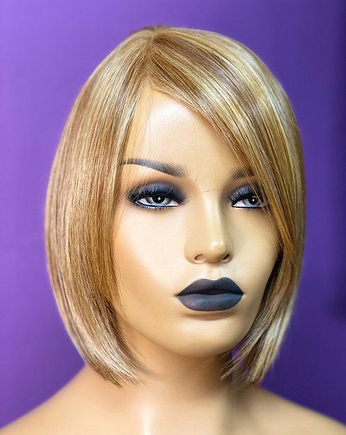 "10"" Human Hair Blend Full Lace Stretch Cap Wig"
