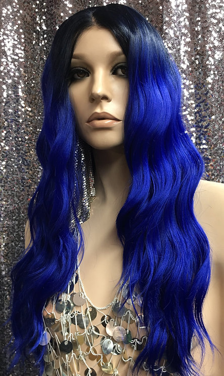 """18.5"""" Human Hair Blend Lace Frontal Wig"""