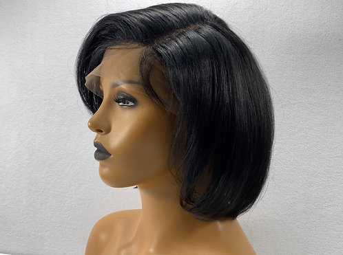 "10"" 100% Indian Human Hair Full Lace Wig"