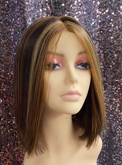 "10"" 100% Human Hair Deep Part Lace Wig"