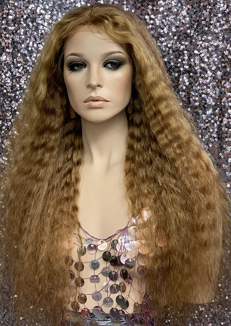 """25"""" 100% Human Hair Deep Part Lace Front Wig"""
