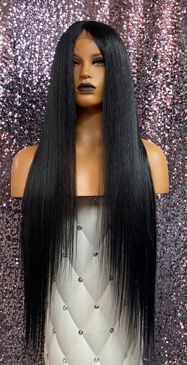 """29"""" Human Hair Blend Deep Part Lace Frontal Wig"""