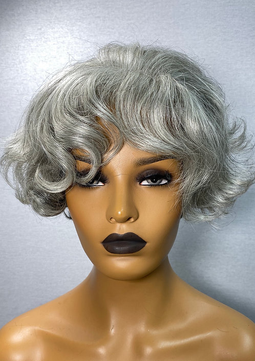 "7"" Synthetic Hair Lace Front HD Scalp Wig"
