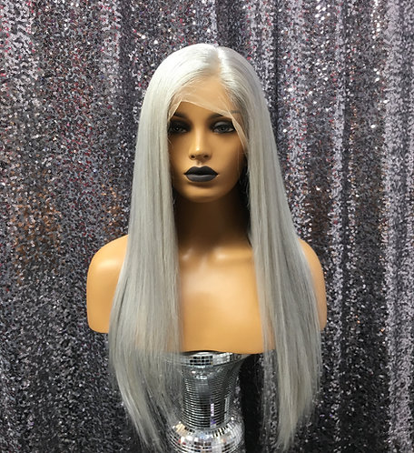 """19"""" 100% Human Hair Silky Full Lace Wig"""