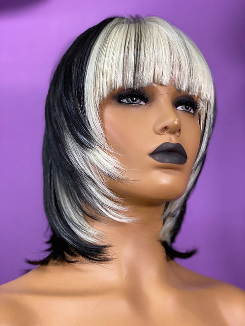 "7"" Synthetic Full Cap Wig"