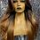 "Thumbnail: 24"" Human Hair Blend Deep Part Lace Frontal Wig"