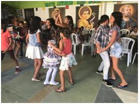 AMECC FESTEJA O SÃO JOÃO 2019 COM OS COLABORADORES, CRIANÇAS E ADOLESCENTES ATENDIDAS.