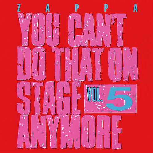 FRANK ZAPPA - YOU CAN´T DO THAT ON STAGE ANYMORE DUPLO CD
