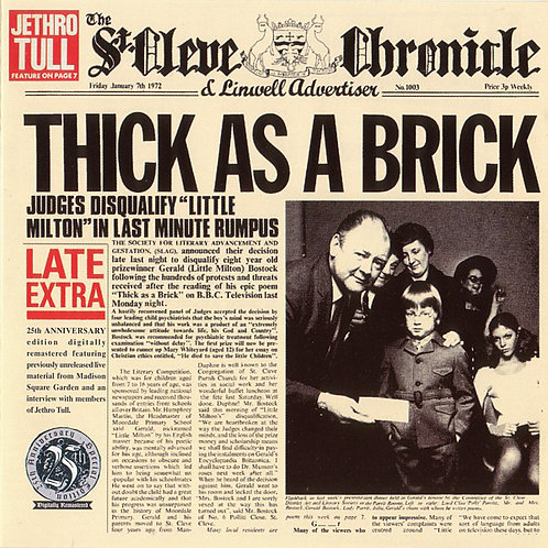 JETHRO TULL - THICK AS A BRICK CD