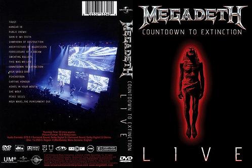 MEGADETH - COUNTDOWN TO EXTINCTION DVD