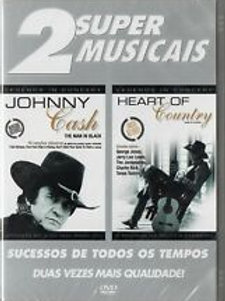 2 SUPER MUSICAIS - JOHNNY CASH/HEART OF COUNTRY DVD