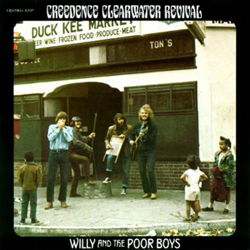 CREEDENCE CLEARWATER REVIVAL - WILLY AND THE POOR BOYS LP