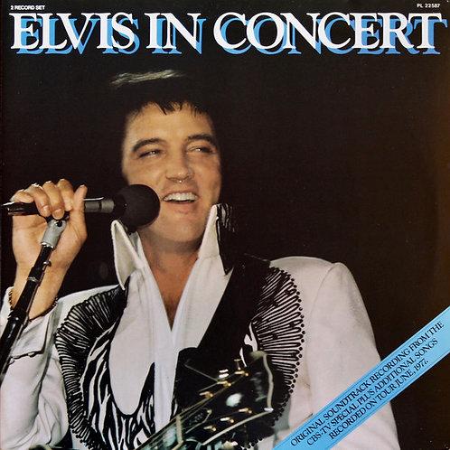 ELVIS IN CONCERT DUPLO LP