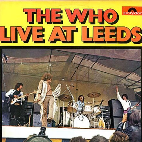 THE WHO - LIVE AT LEEDS BRAZILIAN EDITION LP