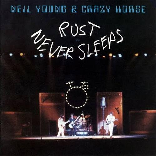 NEIL YOUNG & CRAZY HORSE - RUST NEVER SLEEPS LP