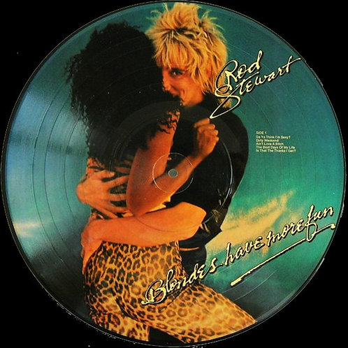 ROD STEWART - BLONDE HAVE MORE FUN INTERVIEW PICTURE DISC LP