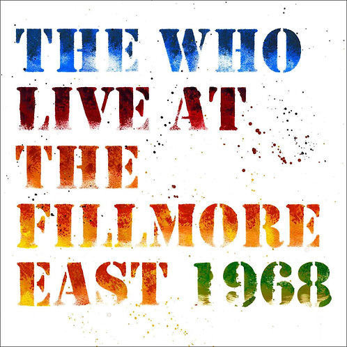 THE WHO - LIVE AT THE FILLMORE EAST 1968 DUPLO CD
