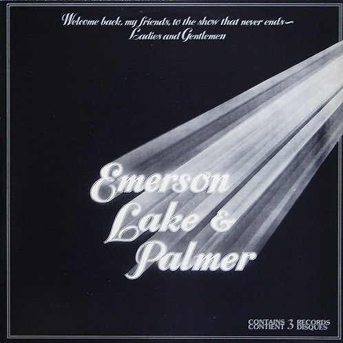 EMERSON LAKE E PALMER - WELCOME BACK TO MY FRIENDS TO THE SHOW  LP