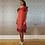 Thumbnail: Red Scales Silk & Chiffon Ruffles Satchel Dress