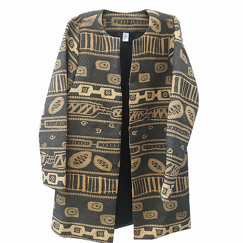 African Jacquard Coat
