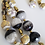 Thumbnail: Set Black Agathas and Porcelain Stones Earrigns & Necklace